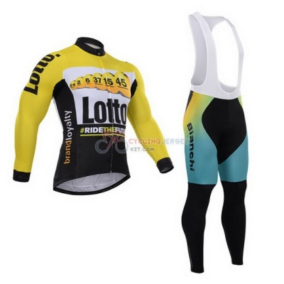 Lotto Cycling Jersey Kit Long Sleeve 2015 Black And Yellow