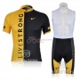 Livestrong Cycling Jersey Kit Short Sleeve 2009 Black And Yellow