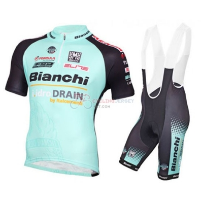 Bianchi Cycling Jersey Kit Short Sleeve 2016 Black And Light Blue