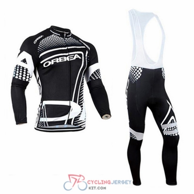 2017 Orbea Cycling Jersey Kit Long Sleeve white and black