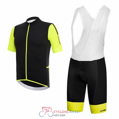 2017 RH+ Cycling Jersey Kit Short Sleeve black and yellow