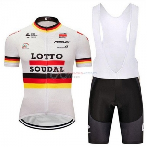 c69489b38 2018 Lotto Soudal Cycling Jersey Kit Short Sleeve Campione Germany ...