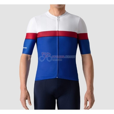 La Passione Cycling Jersey Kit Short Sleeve 2019 White Red Blue