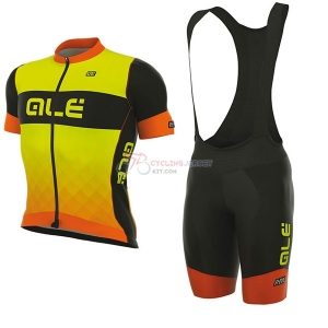965ede03237 ALE R-EV1 Rumbles Short Sleeve Cycling Jersey and Bib Shorts Kit 2017 yellow