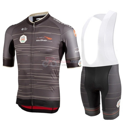 Castelli UAE Tour Cycling Jersey Kit Short Sleeve 2019 Gray