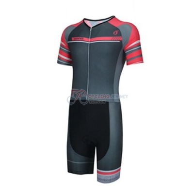 Emonder-triathlon Cycling Jersey Kit Short Sleeve 2019 Black Gray Red