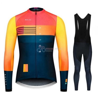 NDLSS Cycling Jersey Kit Long Sleeve 2020 Blue Yellow