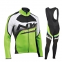 Northwave Cycling Jersey Kit Long Sleeve 2019 Green Black White