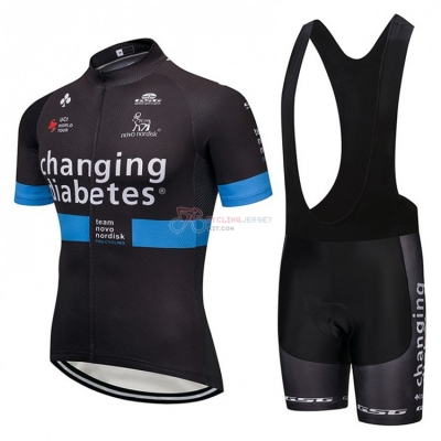 Novo Nordisk Cycling Jersey Kit Short Sleeve 2018 Black and Blue