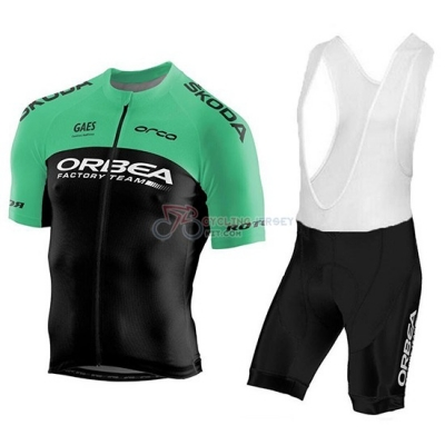 Orbea Factory Cycling Jersey Kit Short Sleeve 2018 Black Green