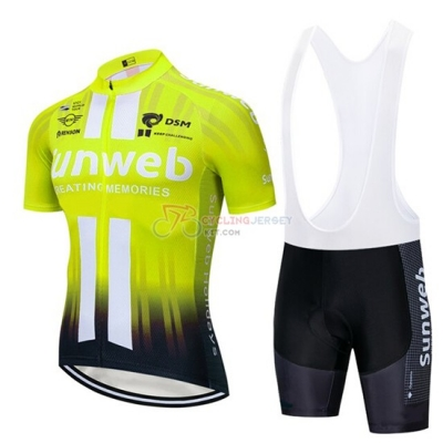Sunweb Cycling Jersey Kit Short Sleeve 2019 Yellow White