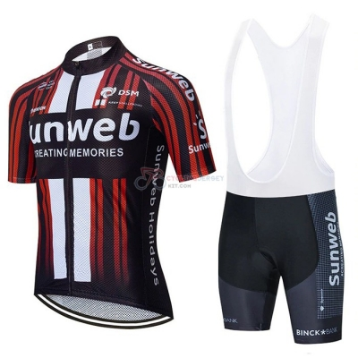 Sunweb Cycling Jersey Kit Short Sleeve 2020 Black Red