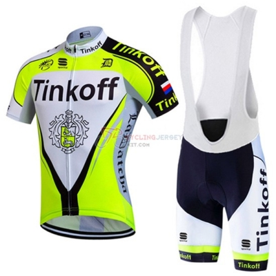 Tinkoff Cycling Jersey Kit Short Sleeve 2016 Black And Green