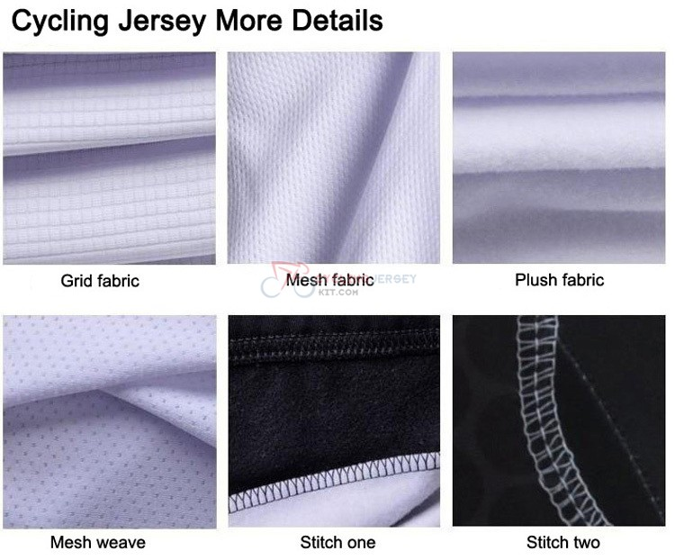 cycling jersey details three